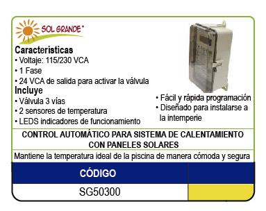 CONTROL AUTOMATICO PARA SISTEMA DE CALENTAMIENTO SOLAR