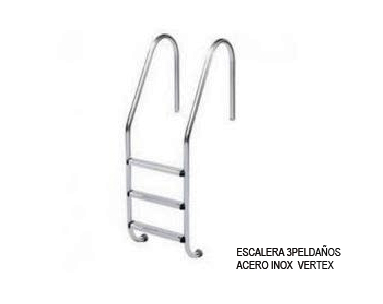 ESCALERA 3 PELDAÑOS ACERO INOXIDABLE VERTEX