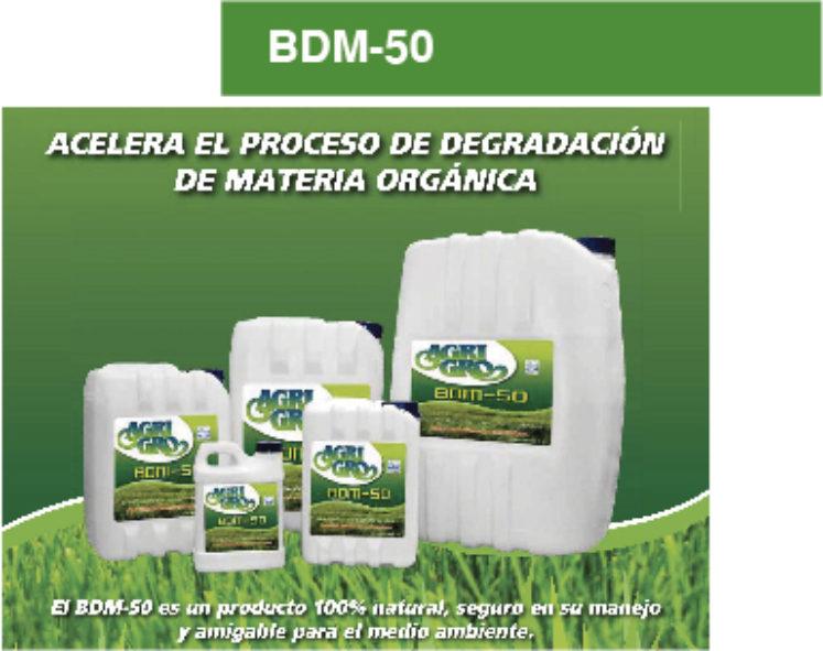 BIODEGRADADOR DE LA MATERIA ORGANICA BDM-50