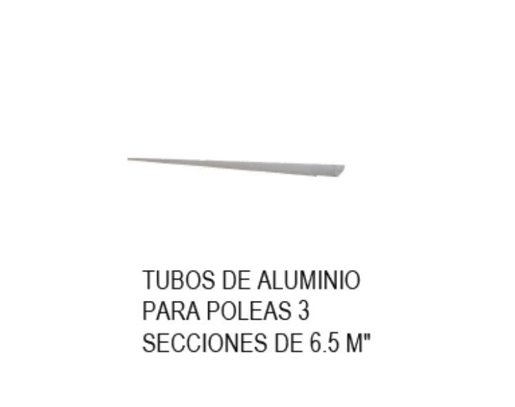TUBOS DE ALUMINIO PARA CUBIERTAS PLÁSTICAS