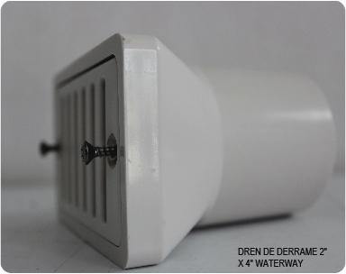 DREN DE DERRAME 2″ X 4″ WATERWAY