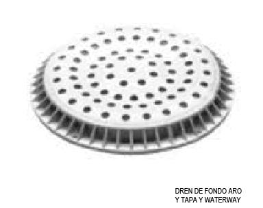 DREN DE FONDO ARO Y TAPA Y WATERWAY