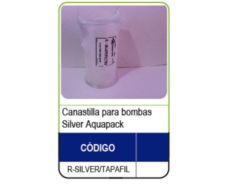 CANASTILLA PARA TRAMPA DE PELO BOMBAS SILVER
