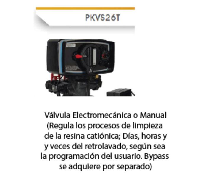 Válvula Electromecánica o Manual Para suavizador PURIKOR