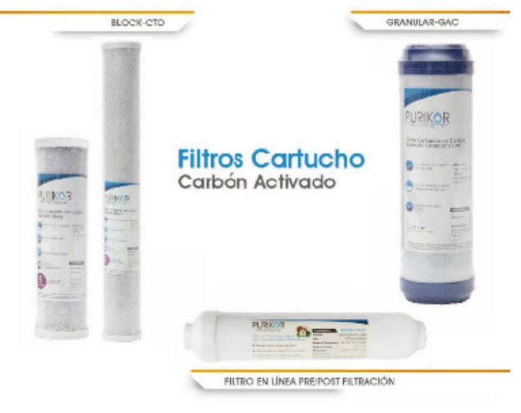 CARTUCHOS DE CARBÓN ACTIVADO
